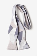 Geometric Camo Silver Self-Tie Bow Tie Photo (1)