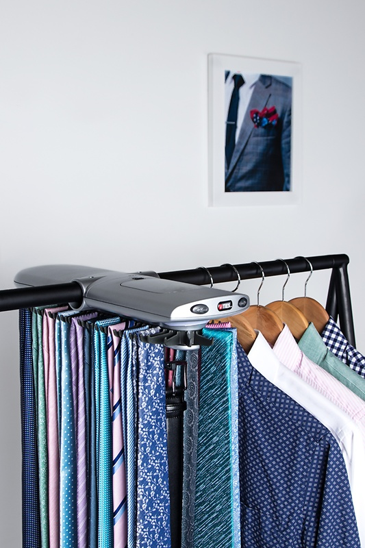 Electronic Closet Silver Tie Rack Photo (4)