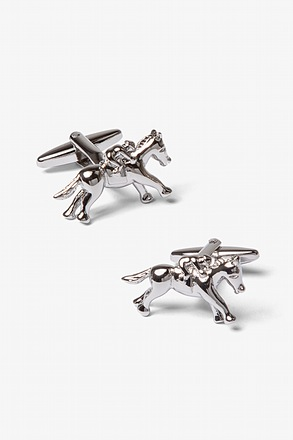 _Galloping Horses Silver Cufflinks_