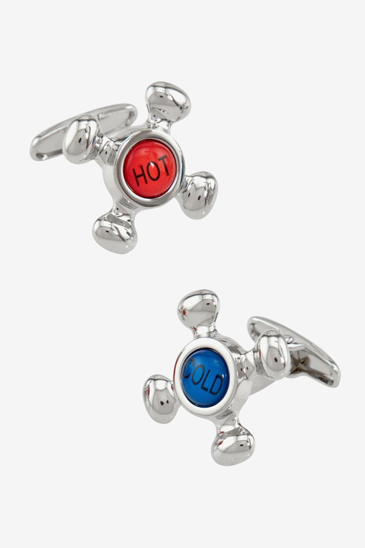 Hot & Cold Knobs Cufflink by Alynn Novelty