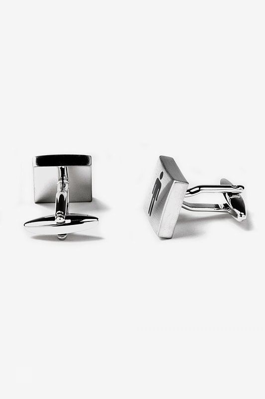 Restrooms Silver Cufflinks