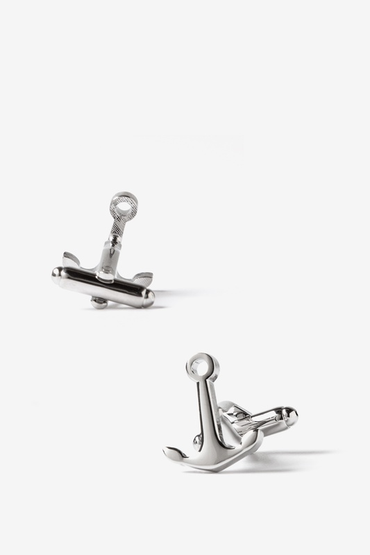 Ships Anchor Silver Cufflinks Photo (1)