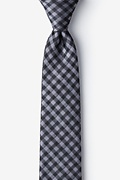 Isabela Silver Skinny Tie Photo (0)
