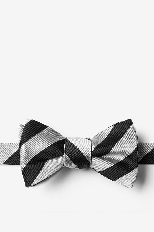 Reggimento Silver Self-Tie Bow Tie Photo (0)