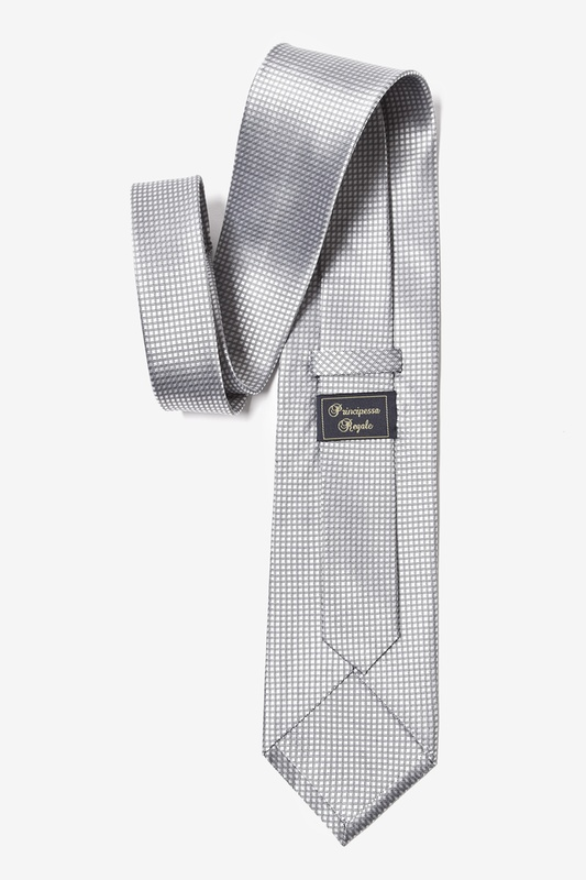 Silver Revitalize Extra Long Tie