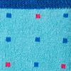 Sky Blue Carded Cotton Long Beach Dots