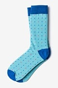 Long Beach Dots Sky Blue Sock Photo (0)