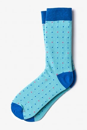 _Long Beach Dots Sky Blue Sock_