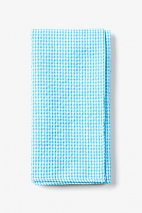 Sky Blue Chamberlain Check Pocket Square