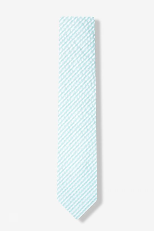 Sky Blue Kensington Seersucker Skinny Tie Photo (1)