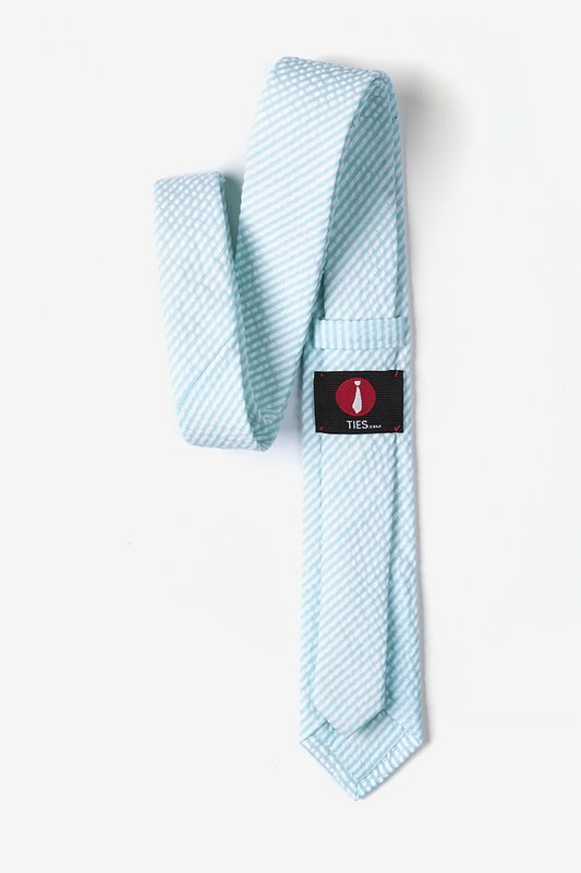 Sky Blue Kensington Seersucker Skinny Tie Photo (2)