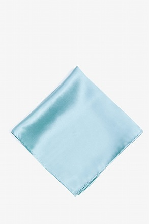_Sky Blue Pocket Square_