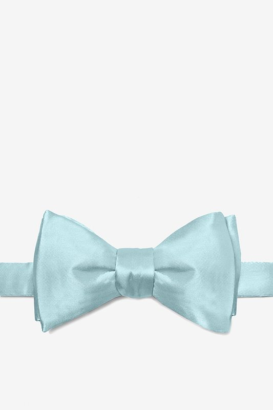 Sky Blue Self-Tie Bow Tie