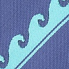 Slate Blue Microfiber Ocean Waves Extra Long Tie