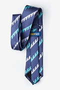 Ocean Waves Extra Long Tie