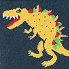 Slate Carded Cotton Tacosaurus Rex