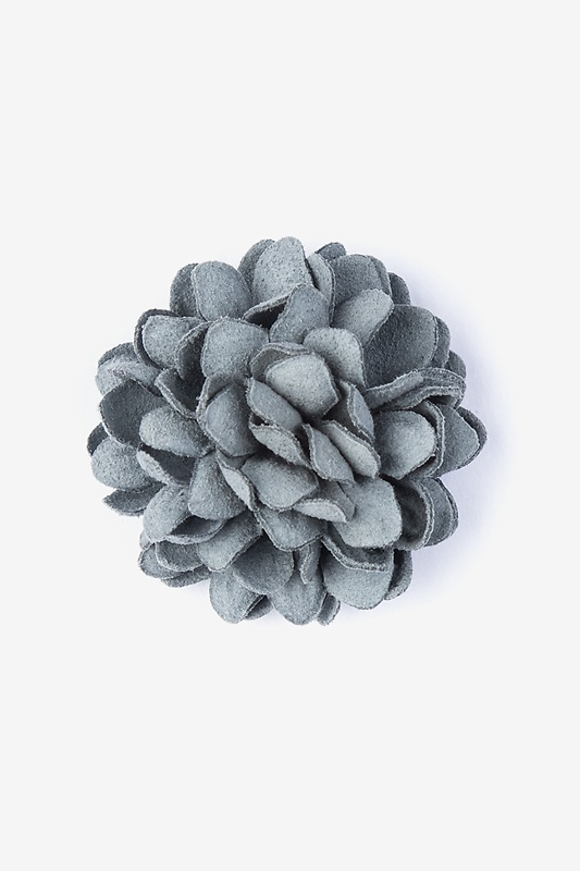 Chrysanthemum Slate Lapel Pin Photo (0)