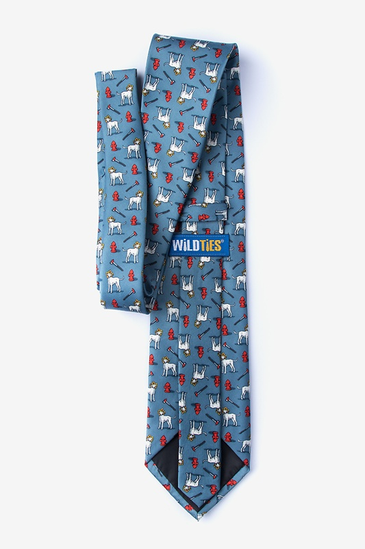 Dalmatian Firefighter Extra Long Tie