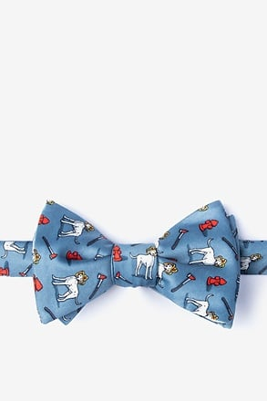Dalmatian Firefighter Slate Self-Tie Bow Tie