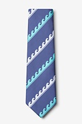 Ocean Waves Slate Extra Long Tie Photo (1)