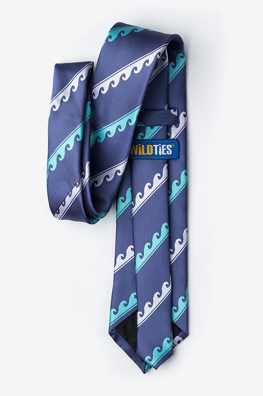 Ocean Waves Slate Extra Long Tie Photo (2)