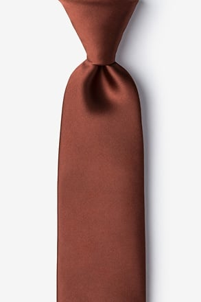 _Spice Brown Extra Long Tie_