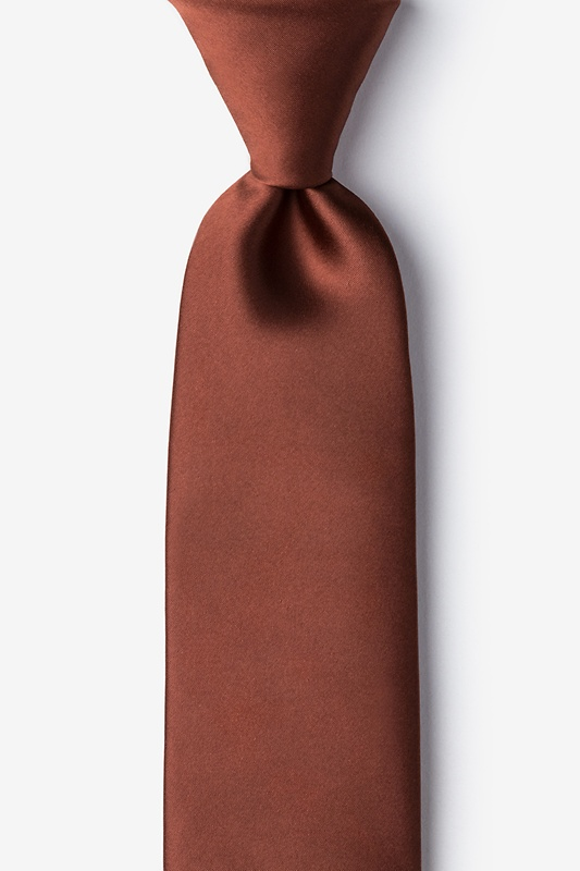 Spice Brown Extra Long Tie Photo (0)