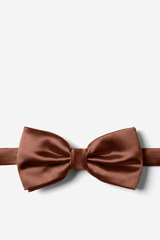 Spice Brown Pre-Tied Bow Tie Photo (0)
