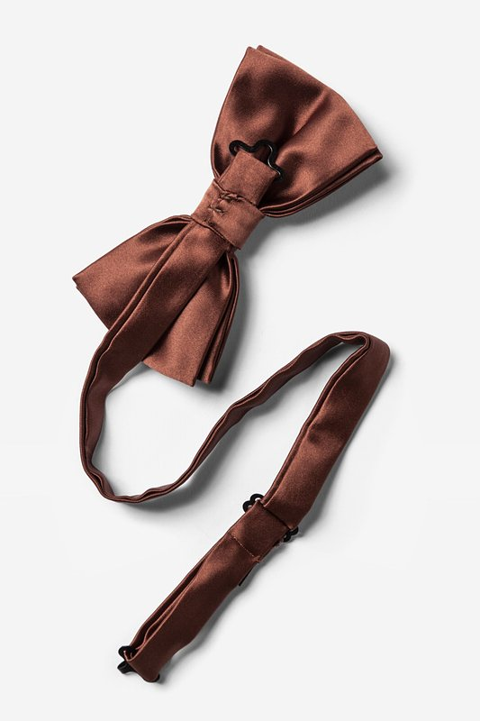 Spice Brown Pre-Tied Bow Tie Photo (1)