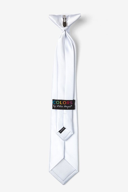 Stark White Clip-on Tie For Boys