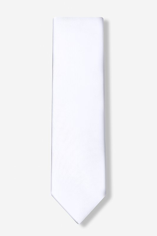 Stark White Extra Long Tie
