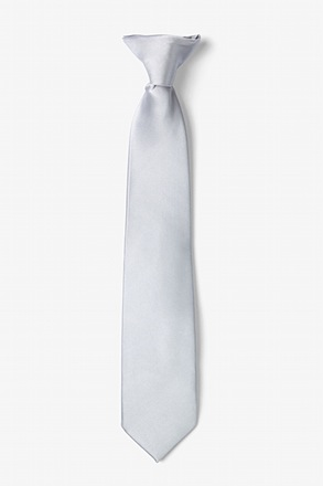 _Sterling Silver Clip-on Tie For Boys_