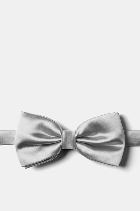 Sterling Silver Pre-Tied Bow Tie Photo (0)