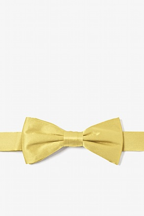 Sunshine Yellow Bow Tie For Boys