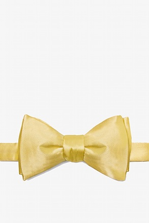 Sunshine Yellow Self-Tie Bow Tie