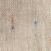Tan/taupe Cotton Tan Simplicity Speckle Pocket Square