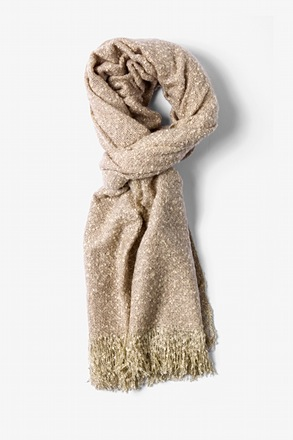 Tan Baltimore Heathered Scarf