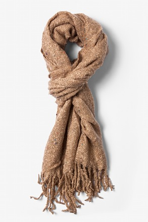 Tan Victoria Speckled Scarf
