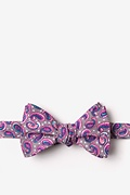 Tan/taupe Cotton Cedar Hill Butterfly Bow Tie