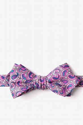 Cedar Hill Tan/taupe Diamond Tip Bow Tie