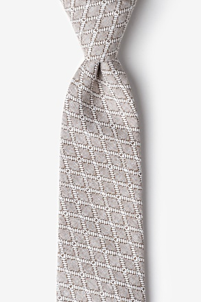 _Redmond Tan/taupe Extra Long Tie_
