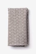 Tan/taupe Cotton Redmond Pocket Square