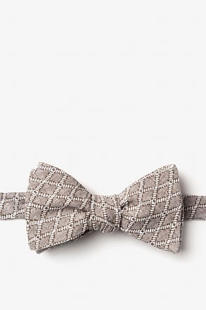 Redmond Tan/taupe Self-Tie Bow Tie