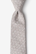 Tan/taupe Cotton Redmond Tie