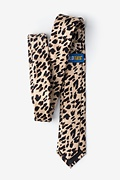 Leopard Animal Print Skinny Tie Photo (1)