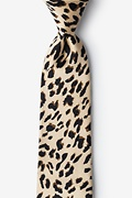 "Leopard Print 3"" Skinny Tie Photo (0)"