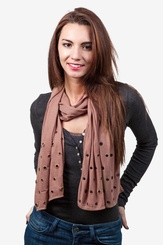 Tan/taupe Polyester Oasis Scarf