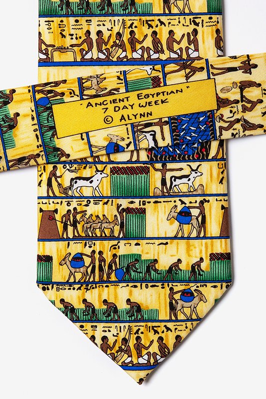 Ancient Egyptian 7 Day Week Tie Photo (3)