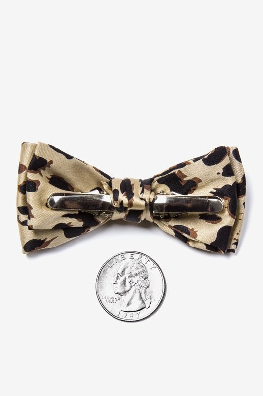 Leopard Print Bow Tie For Infants