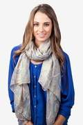 What's Your Number Tan/taupe Scarf by Scarves.com